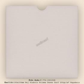 15x15cm Bej Diabolo Prisma Desen Zarf 250gr/m² Kapaksız