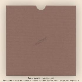 15x15cm Kahve Diabolo Prisma Desen Zarf 250gr/m² Kapaksız