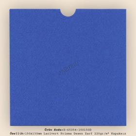 15x15cm Lacivert Prisma Desen Zarf 220gr/m² Kapaksız
