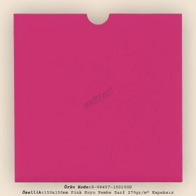 15x15cm Pink Plike Zarf 270gr/m² Kapaksız