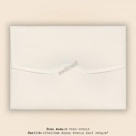 15,5x21,5cm Beyaz Svecıa Zarf 280gr/m²
