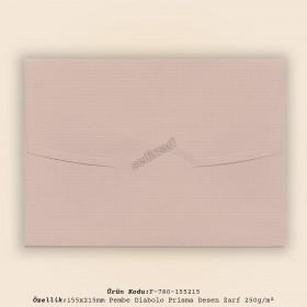 15,5x21,5cm Pembe Diabolo Prisma Desen Zarf 250gr/m²