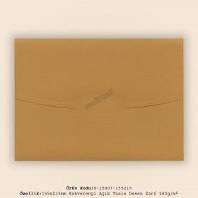 15,5x21,5cm Tarçın Tuale Desen Zarf 280gr/m²