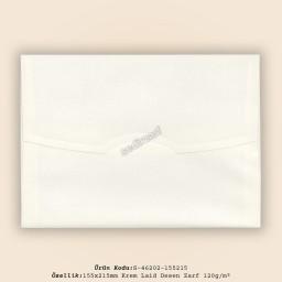 15,5x21,5cm Krem Laid Desen Zarf 120gr/m²