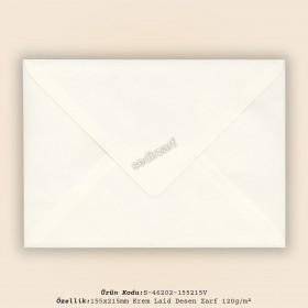 15,5x21,5cm Krem Laid Zarf 120gr/m²