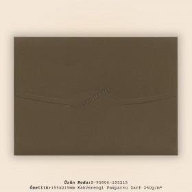 15,5x21,5cm Kahve Paspartu Zarf 250gr/m²