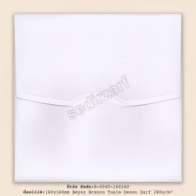 16x16cm Beyaz Branco Tuale Desen Zarf 280gr/m²