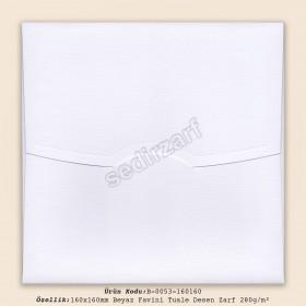 16x16cm Beyaz Favini Tuale Desen Zarf 280gr/m²