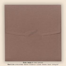 16x16cm Kahve Diabolo Lines Zarf 250gr/m²