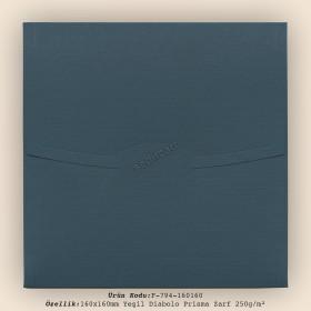 16x16cm Yeşil Diabolo Prisma Desen Zarf 250gr/m²