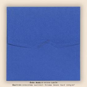 16x16cm Lacivert Prisma Desen Zarf 220gr/m²
