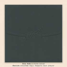 16x16cm Yeşil Paspartu Zarf 250gr/m²