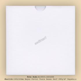 16x16cm Beyaz Favini Tuale Desen Zarf 280gr/m² Kapaksız