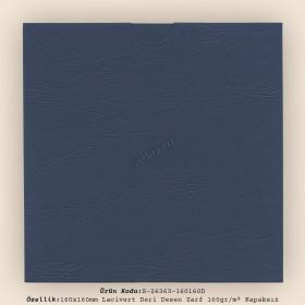 16x16cm Lacivert Deri Desen Zarf 160gr/m² Kapaksız