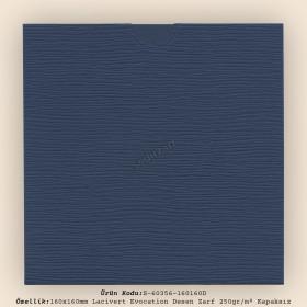 16x16cm Lacivert Evocation Desen Zarf 250gr/m² Kapaksız