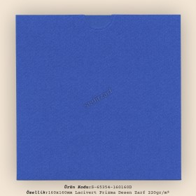 16x16cm Lacivert Prisma Desen Zarf 220gr/m² Kapaksız