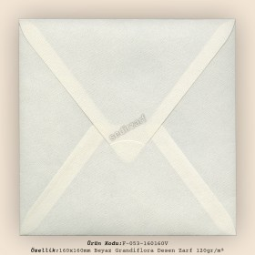 16x16cm Beyaz Grandiflora Zarf 120gr/m²