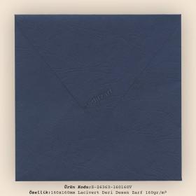 16x16cm Lacivert Deri Desen Zarf 160gr/m²