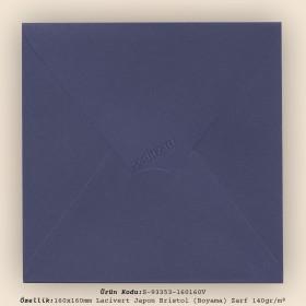 16x16cm Lacivert Japon Bristol (Boyama) Zarf 140gr/m²