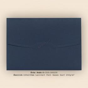 16x23cm Lacivert Felt Desen Zarf 250gr/m²