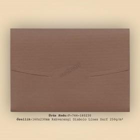 16x23cm Kahve Diabolo Lines Zarf 250gr/m²
