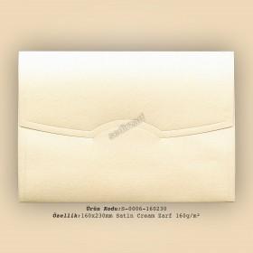 16x23cm Satin Cream Zarf 160gr/m²