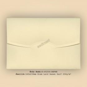 16x23cm Krem Laid Desen Zarf 250gr/m²