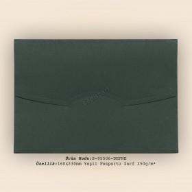 16x23cm Yeşil Paspartu Zarf 250gr/m²