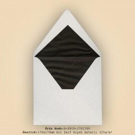 17x17cm Gri Zarf Siyah Astarlı 225gr/m²