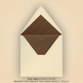 17x17cm Bej Zarf Kahve Astarlı 225gr/m²