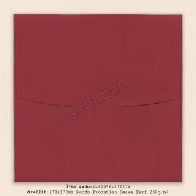 17x17cm Bordo Diabolo Lines Desen Zarf 250gr/m²