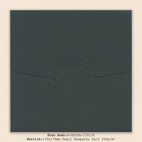 17x17cm Yeşil Paspartu Zarf 250gr/m²