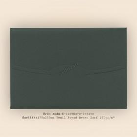 17,5x25cm Yeşil Pryzd Desen Zarf 270gr/m²