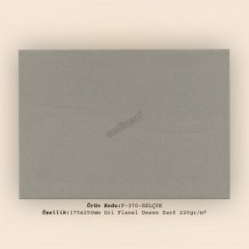 17,5x25cm Gri Classic Flanel Zarf 220gr/m²