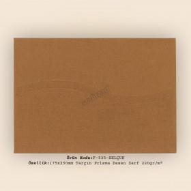 17,5x25cm Tarçın Prisma Desen Zarf 220gr/m²