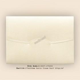 17,5x25cm Satin Cream Zarf 250gr/m²