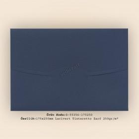 17,5x25cm Lacivert Tinteretto Desen Zarf 250gr/m²