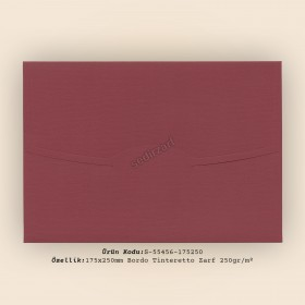 17,5x25cm Bordo Tinteretto Desen Zarf 250gr/m²