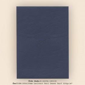 18x13cm Lacivert Deri Desen Zarf 220gr/m²