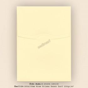 18x13cm Krem Prisma Desen Zarf 220gr/m²
