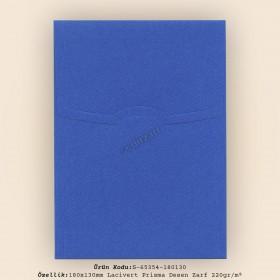 18x13cm Lacivert Prisma Desen Zarf 220gr/m²