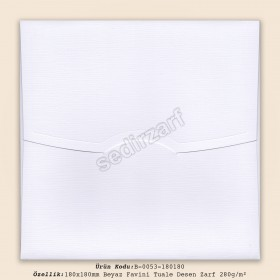 18x18cm Beyaz Favini Tuale Desen Zarf 280gr/m²