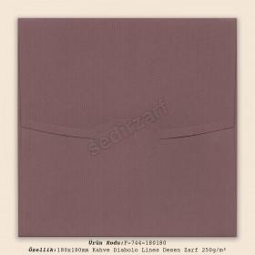 18x18cm Kahve Diabolo Lines Zarf 250gr/m²