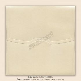 18x18cm Satin Cream Zarf 250gr/m²