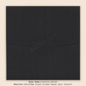 18x18cm Siyah Prisma Desen Zarf 220gr/m²