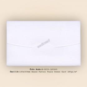 18,5x30,5cm Beyaz Favini Tuale Zarf 280gr/m²