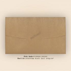 18,5x30,5cm Kraft Zarf 200gr/m²