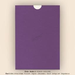 19,5x13,5cm Violet Japon Bristol (Boyama) Zarf 240gr/m² Kapaksız