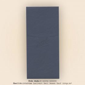 20x9cm Lacivert Deri Desen Zarf 220gr/m²