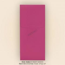 20x9cm Pink Plike Zarf 270gr/m²